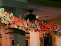 Family craft: Coffee filter fall leaf garland