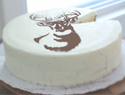 The easiest-ever way to stencil a cake (VIDEO)