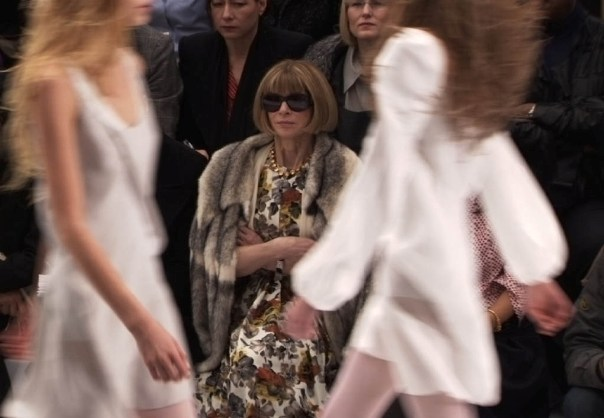 Anna Wintour in the front row, as she always is in Cutler's The September Issue