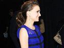 Natalie Portman shows off baby bump and engagement ring