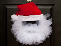 Tulle santa wreath tutorial