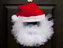 Tulle santa wreath tutorial