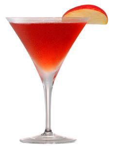 Festive holiday mixed drinks