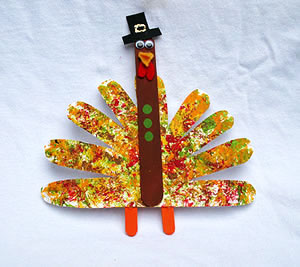 paper plate tom turkey craft