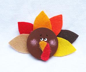felt turkey magnet craft