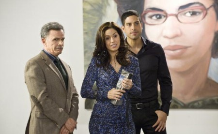 Tony Plana, Ana Ortiz and Freddie Rodriguez in Ugly Betty