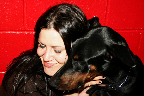 Valentine's Day with Doberman
