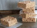 Vegan peanut butter brown rice crispy treats