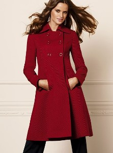Victoria's Secret twill double-breasted A-line coat