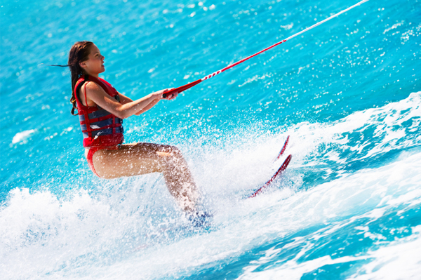 Waterskiing Woman