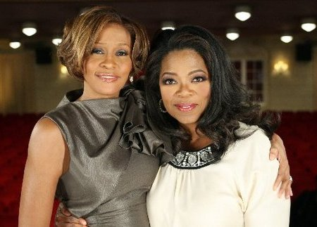 Whitney Houston and Oprah Winfrey