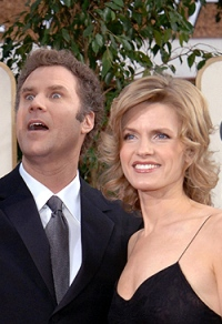 Will and his wife Viveca at the Golden Globes