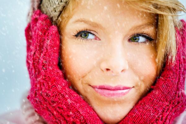 Winter woman with nice skin