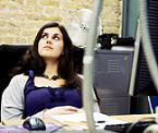 Woman bored at office