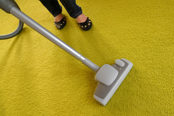 Vacuuming Yellow Carpet