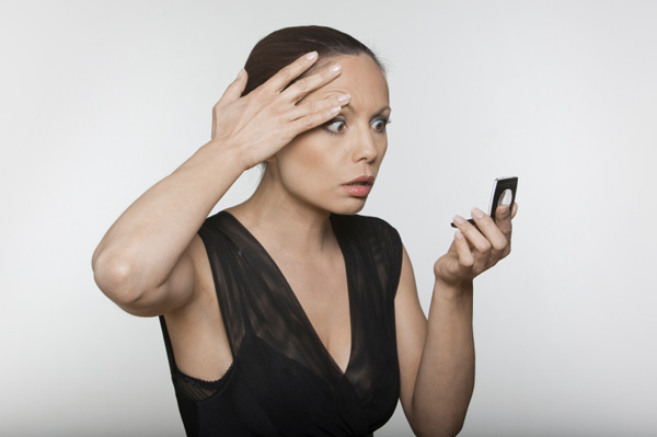 Woman concerned with aging