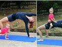 PHOTOS: What yoga with a child is really like