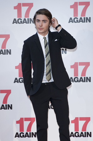 Zac Efron at the 17 Again premiere in Australia