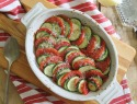 Simple, fresh side dish: Zucchini and tomato Parmesan gratin