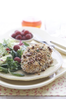 Raspberry Mustard-Crusted Chicken