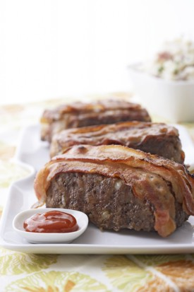 Bacon-Wrapped Meatloaves