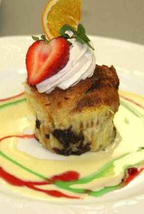 Cherry Bread Pudding