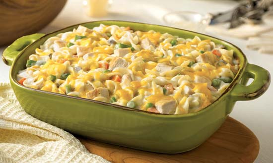 Healthy turkey noodle casserole