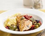 Mediterranean chicken and polenta