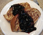 Room Service French Toast with Minted Blueberries