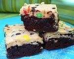 M&amp;M Layered Brownies