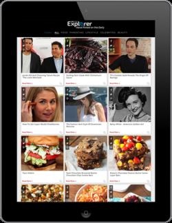 iPad displaying SheKnows Explorer Traffic Exchange Platform