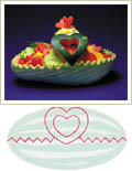heart basket pattern, watermelon carving