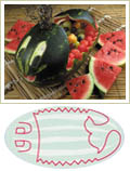whale pattern, watermelon carving