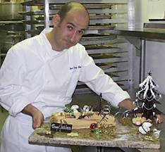 making a yule log cake, jean francois houdre