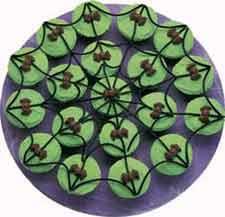 spider web cup ake platter