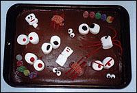 goofy spooky cake, easy halloween cakes