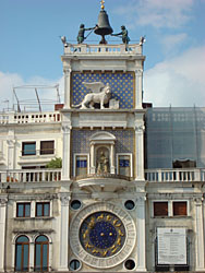Clock in Venice, Italy, St. Mark's Square