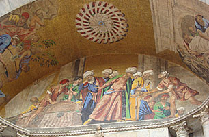 mosaics at St. Mark's Cathedral