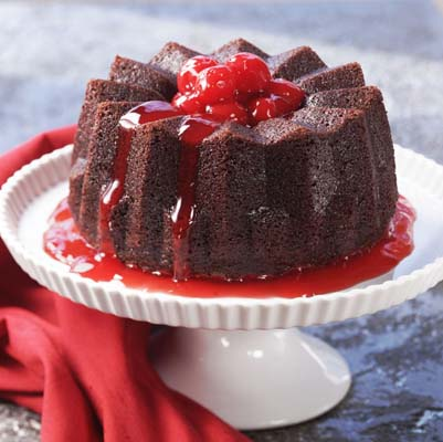 Vanilla-Mocha Cafe Cake With Cherries Jubilee Sauce Recipes ...