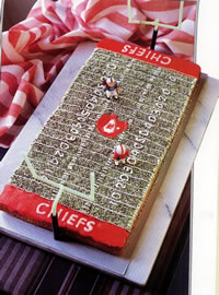 Football Field Decorated Cake