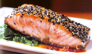 Michael Lomonaco's Slow Roasted Sesame Salmon with Ginger