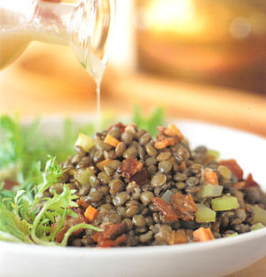 Williams-Sonoma;s Lentil, Bacon and Frisee Salad