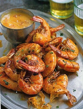 Weight Watchers' Spiced Shrimp with Mango Puree