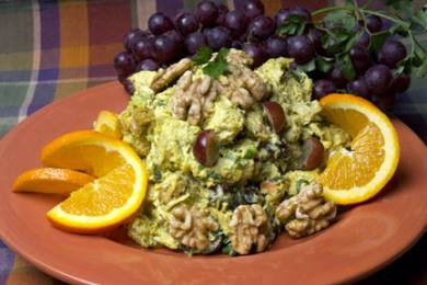 Curry Chicken Salad with Walnuts