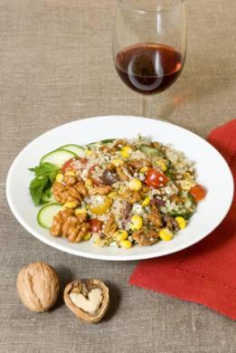 Summer Fresh Confetti Walnut Quinoa Salad