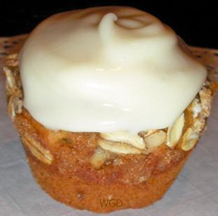Pumpkin Banana Spice Muffins with Creamy Glaze