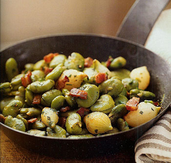 Fresh Fava Beans with Bacon - Feves a La Tourangelle