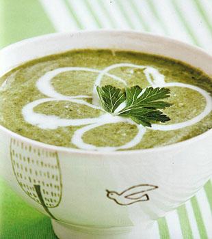 Nava Atlas' Vegan Puree of Spring Greens Soup