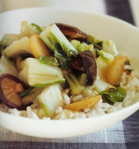 The Poor Chef's Bok Choy and Shiitake Japanese Stir Fry
