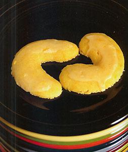 Orange Crescent Cookies